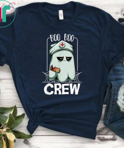 Boo Boo Crew Nurse Ghost Funny Scary Halloween Quotes T-Shirt