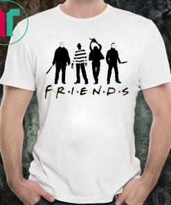 Friends Horror Movies Halloween T-Shirt Horror Friends Squads Shirt