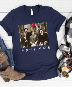Friends IT Spooky Clown Jason Squad Halloween Horror Funny Halloween Scary Costume 2019 Tee Shirt