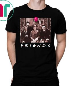 Friends IT Spooky Clown Jason Squad Horror T-Shirt