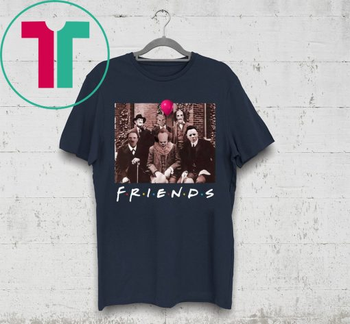 Friends IT Spooky Clown Jason Squad Horror T-Shirt