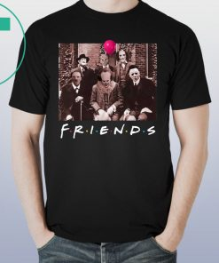 Official Friends IT Spooky Clown Jason Squad Horror Shirt