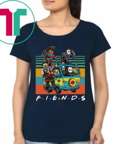 Friends TV Show Characters Horror Movies Vintage T-Shirt