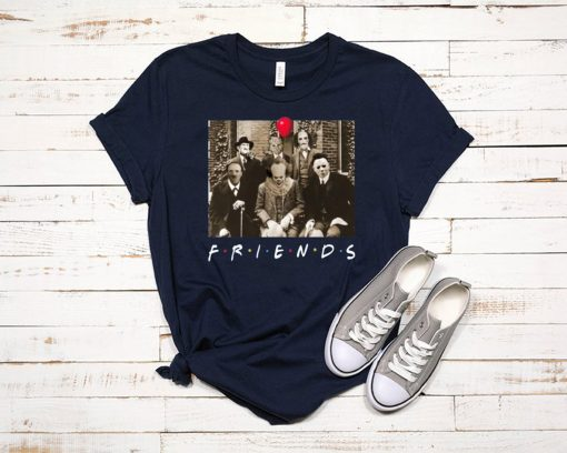 Horror Characters Friends shirtHorror Characters Friends shirt
