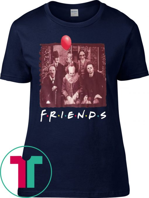 Womens Horror Movie Characters Friends TV Show T-Shirt