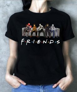 Funny Horror Movie Characters Friends TV Show T-Shirt