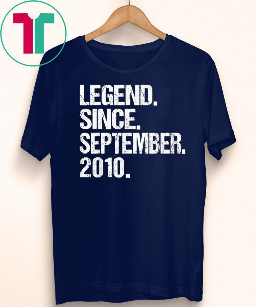Legend Since September 2010 9th Birthday Gift 9 Years Old T-Shirt