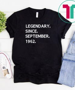 Legendary Since September 1962 Virgo Zodiac T-Shirt