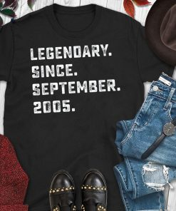 Legendary Since September 2005 Birthday Gift For 14 Yrs Old T-Shirt