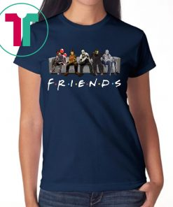 Official Horror Characters friends TV Show T-Shirt