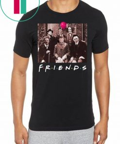 Team Friends IT Spooky Clown Jason Squad Horror T-Shirt