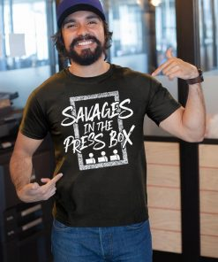 Yankees Savages In The Press Box T-Shirt