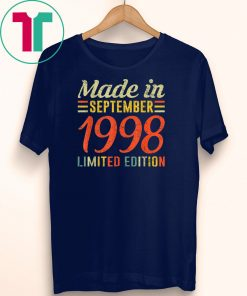 September 1998 Shirt 21st Birthday Decorations Born In 1998 T-Shirt