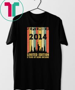 September 2014 T Shirt 5 Year Old Shirt 2014 Birthday Gift