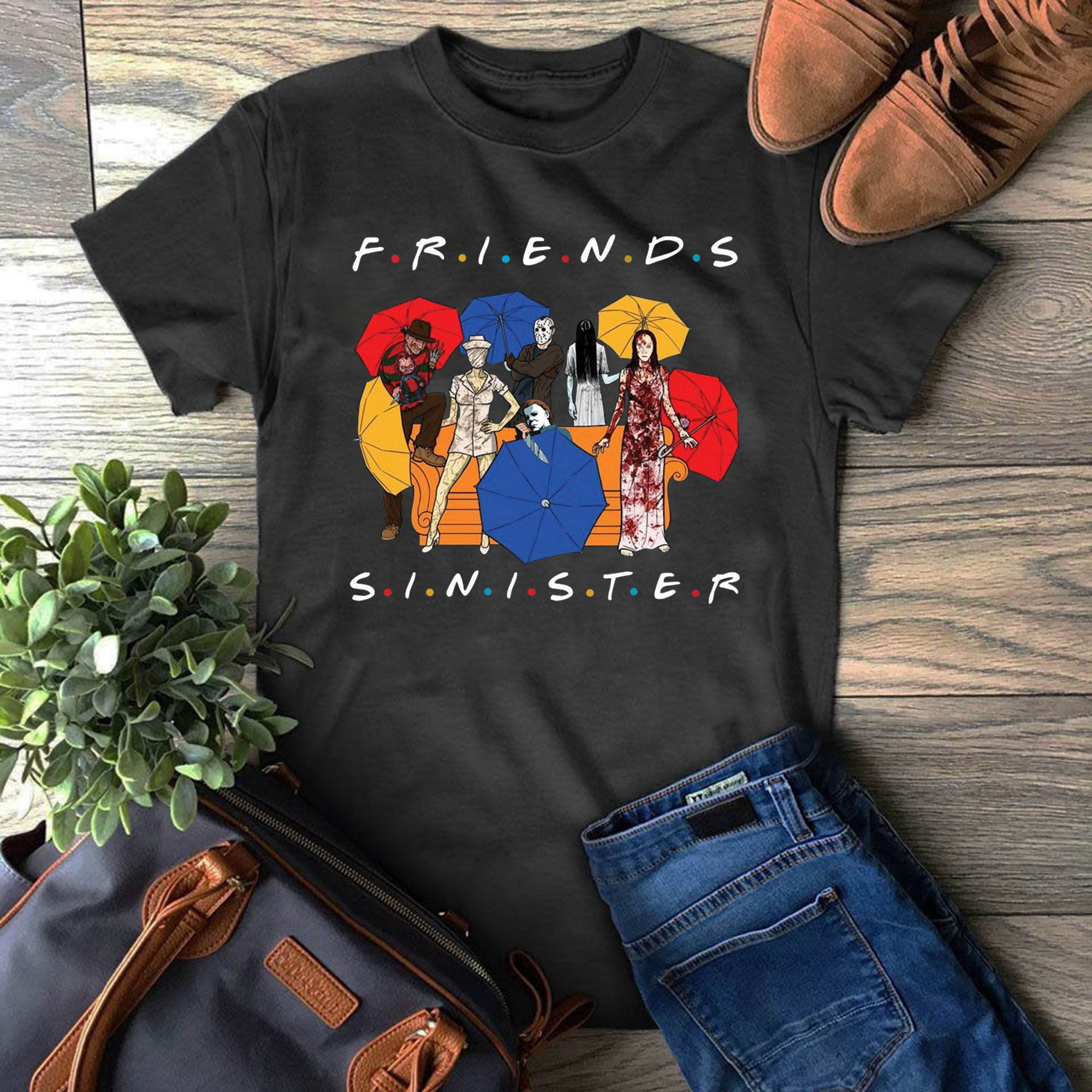 Sinister friends TV shows for best friends of the 90s Objectives Horror  movies H Focus P Focus Halloween Not too scary T-shirts - Reviewshirts  Office