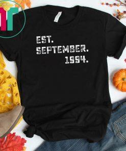 Vintage Est September 1994 Birthday Gift For 25 Yrs Old H1 T-Shirt