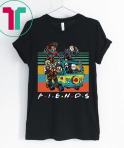 Vintage Friends TV Show Characters Horror Movies Shirt