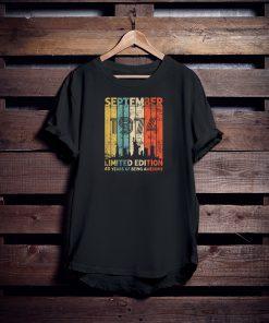 Vintage September 1974 Shirt 45 Years Old 1974 Birthday Gift T-Shirt