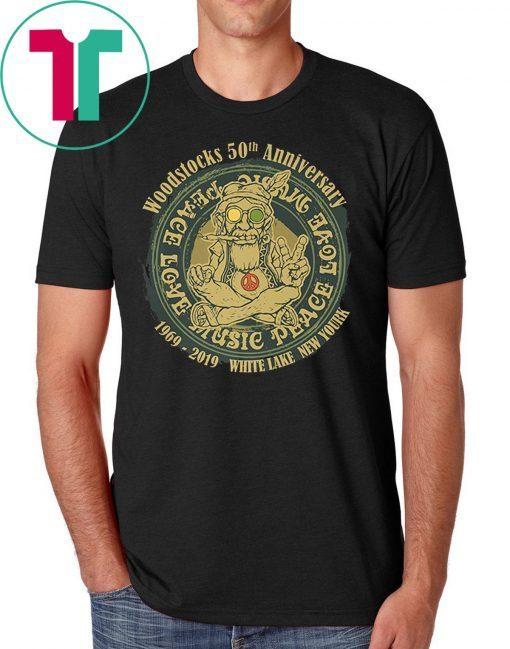 Woodstocks 50th Anniversary Peace Love T-Shirt