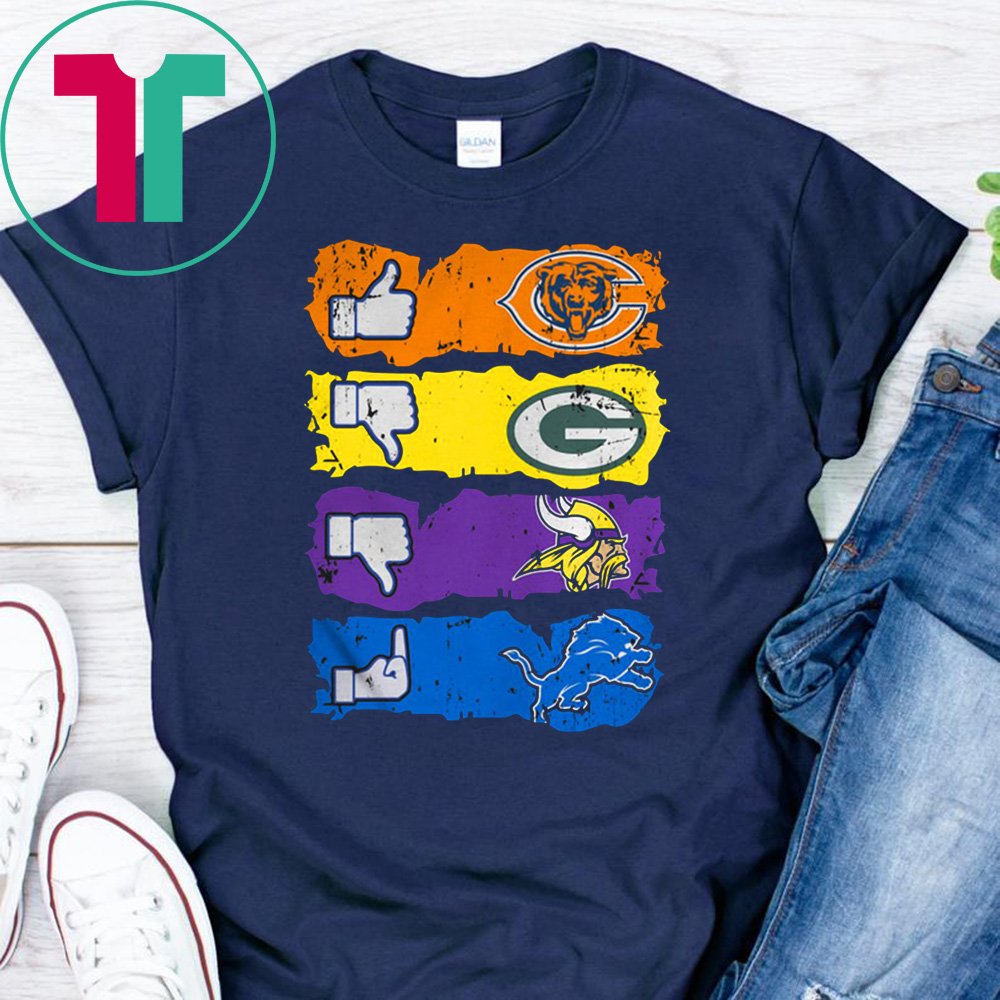 cheap for discount 658cd 02467 Chicago bears minnesota vikings detroit lions and green bay packers shirt -  Reviewshirts Office