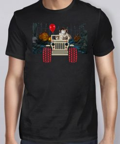 Halloween pennywise and jeep shirt
