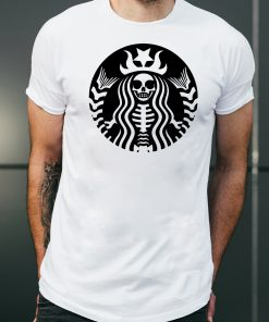 Halloween starbucks skeleton shirt