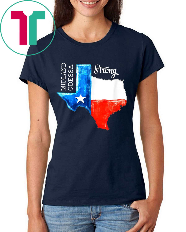 Midland Odessa Strong Texas Flag 432 Lover T-Shirt
