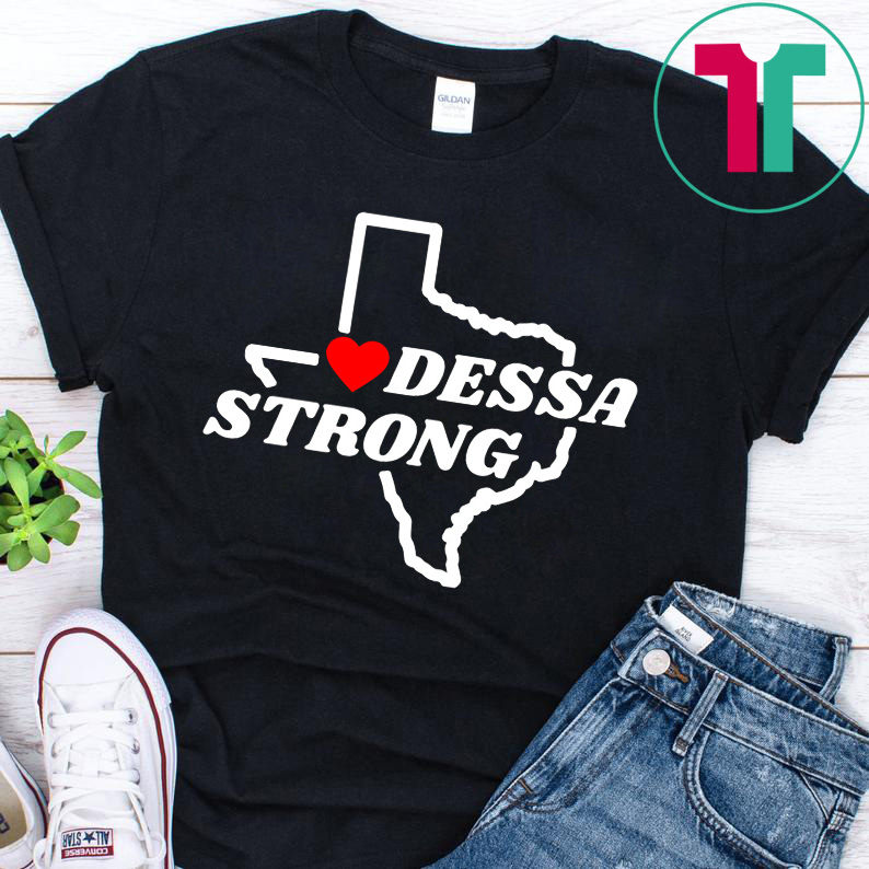 Victims Midland Odessa Strong Texas Flag Map Shirt