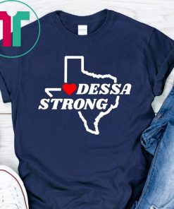 Victims Midland Odessa Strong Texas Flag Map Shirt