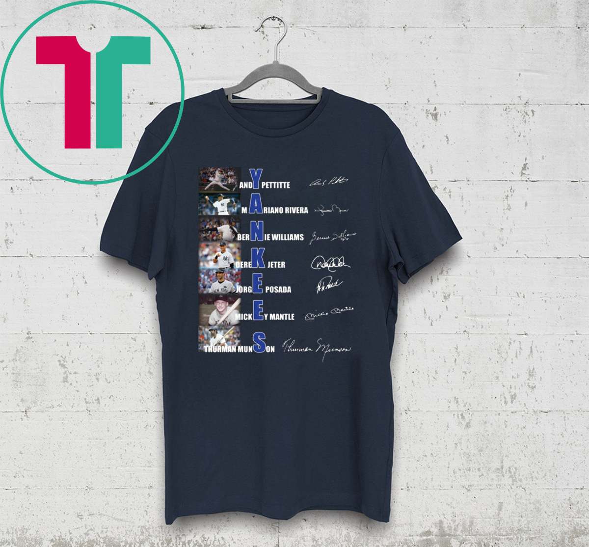 reputable site be3af 7d0c3 Yankees Andy Pettitte Mariano Rivera Bernie Williams Signature Shirt -  Reviewshirts Office