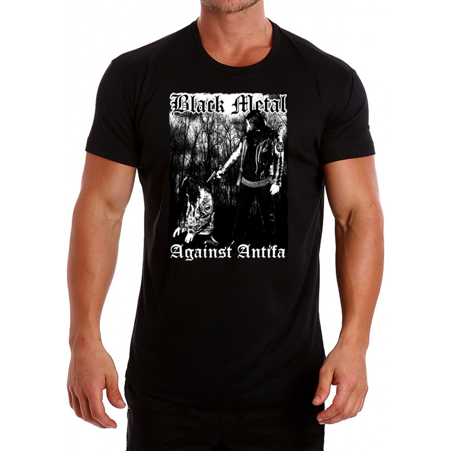 'Black Metal Against Antifa' Behemoth's T Shirt Nergal Reveals Tee