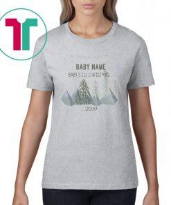 Adventure Awaits Baby Name Baby's 1st Christmas 2020 Shirt