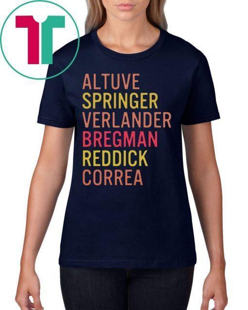 Altuve Springer Verlander Bregman Bregman Reddick Correa Astros Shirt