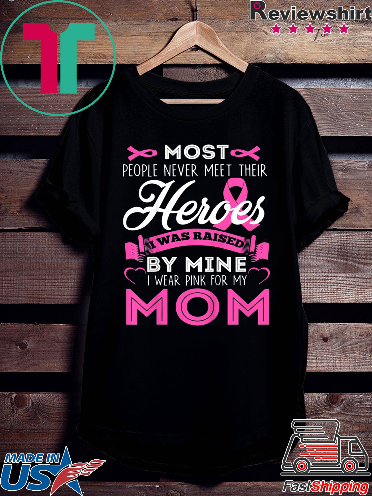 I Wear Pink for My Dad Cancer Awareness Support Gift for Cancer Mens Shirts