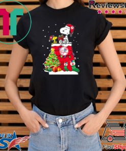 New York Yankees Snoopy And Woodstock Christmas T-Shirt