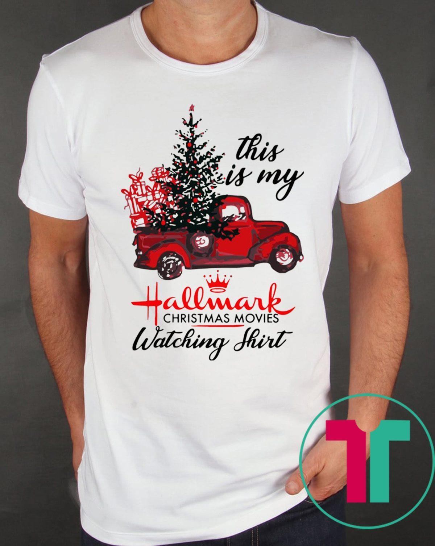 Hallmark Christmas T Shirt.This Is My Hallmark Christmas Movie Watching Gift T Shirt Reviewshirts Office