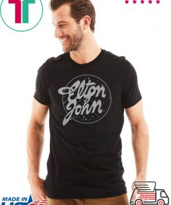 Elton John Official Vintage Tour Logo T-Shirt