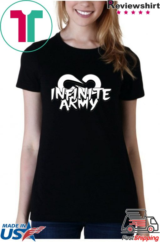 Infinite lists merch INFINITE LISTS INFINITE ARMY GARNET TEE Shirt