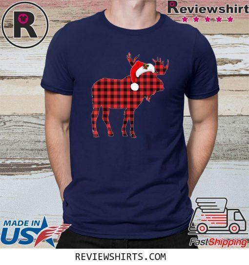 Matching Family Christmas Moose Plaid Pajama Shirt