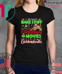Nice Watch Christmas Movies With My Goldendoodle Christmas Gifts shirt