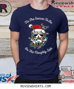 Star Wars Trooper Tangled Naughty Side Christmas TShirt