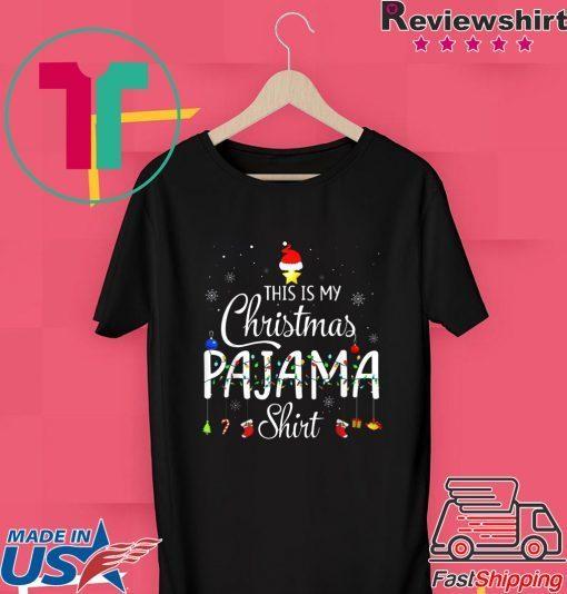 This is My Christmas Pajama Shirt - Funny Xmas Light Tree T-Shirt