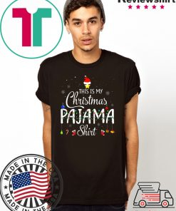 This is My Christmas Pajama Shirt - Funny Xmas Light Tree T-Shirt