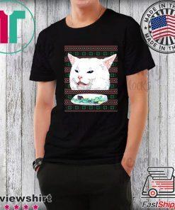 Woman Yelling At Cat Christmas T-Shirt
