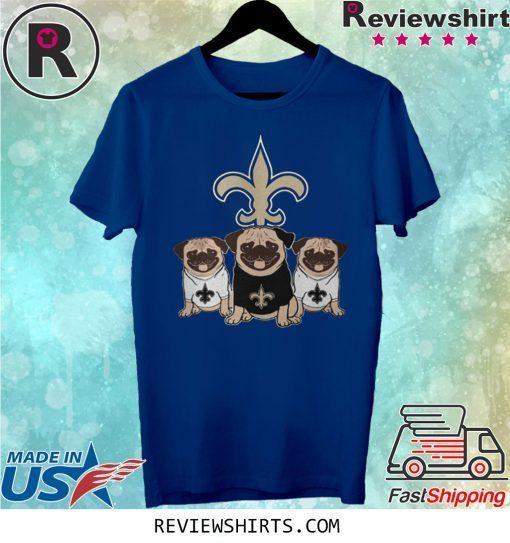New Orleans Saints Pugs Dog Shirt