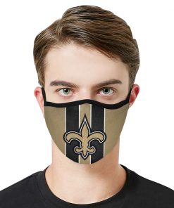 New Orleans Saints Football Face Mask