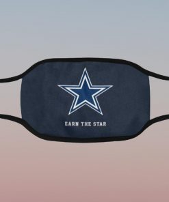 Dallas Cowboys Earn The Star Filter Face Mask