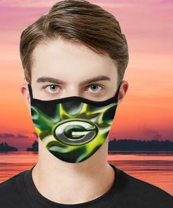 Green Bay Packers Face Mask filter PM2.5 - SARS CoV-2