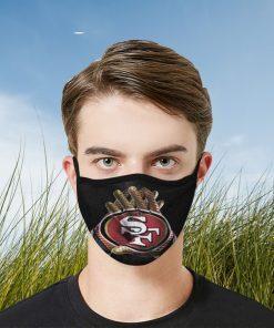 San Francisco 49ers Filter Face Mask - Filter Face Mask PM 2.5 - Fan San Francisco 49ers NFL Football