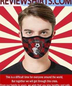 AFC Bournemouth Soccer Club Cloth Face Mask